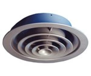 Στόμιο οροφής κυκλικό με σταθερά ομόκεντρα πτερύγια