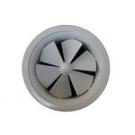 Στόμιο οροφής, στροβιλισμού, με κυκλικό πλαίσιο, με 6 ή 8 περιστρεφόμενα πτερύγια