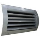 Στόμιο προσαγωγής αέρα με δύο σειρές ρυθμιζόμενα πτερύγια με καμπύλο πλαίσιο
